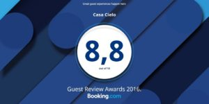 Booking.com 2016 Award - Hotel Casa Cielo